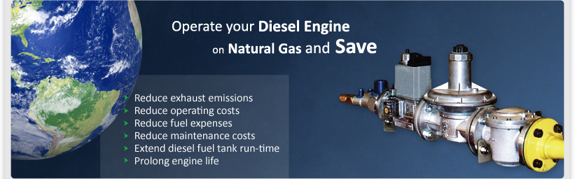 Operate your Diesel Engine on Natural Gas and Save